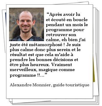 Témoignage de Alexandre MONNIER