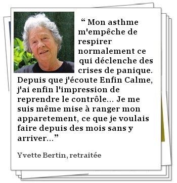 Témoignage de Yvette BERTIN
