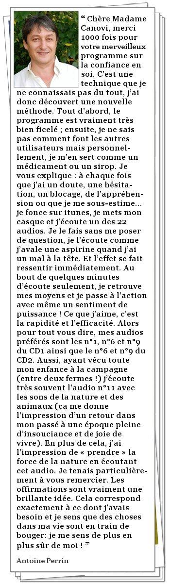 Témoignage de Antoine Perrin